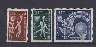 Lithuania 1939 MLH set.EC Basketboll Sports.