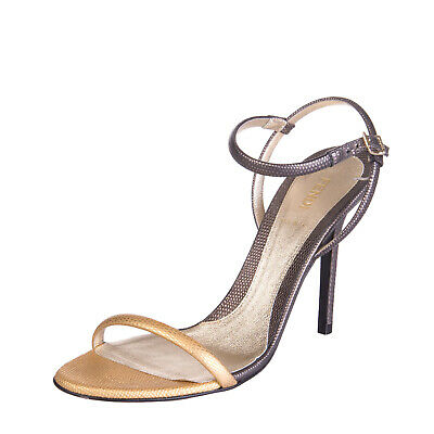 FENDI Leather High Heel Ankle Strap Sandals Size 40 UK 7 Made in Italy