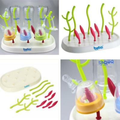 Baby Infant Lawn Grass Countertop Drying Rack Clean Holder for Bottle Nipple B