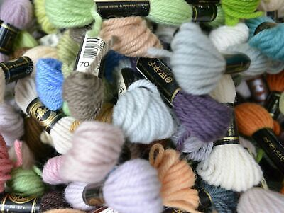 20 x SKEINS DMC Tapestry Wool, 8m SKEINS, Message with Colour Codes