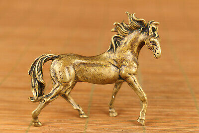 Rare Collection gift chinese Brass horse statue figure Noble gift decoration