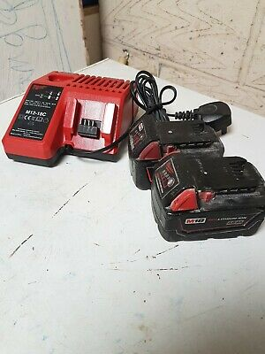 Milwaukee 4ah, 3ah Battery And Charger M12-18C M18