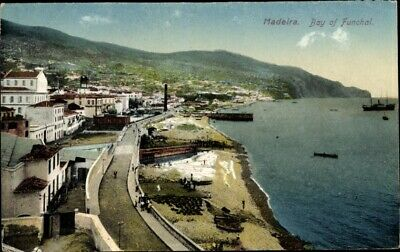 Ak Funchal Insel Madeira Portugal, View of Bay - 1913989