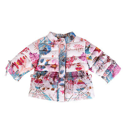 ROBERTO CAVALLI Quilted Jacket Size 3M Padded Floral Made in Italy