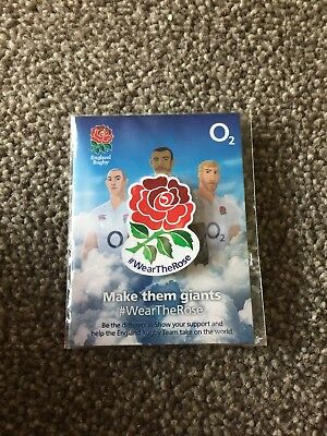 England Rugby Wear The Rose Pin Badge 02 New