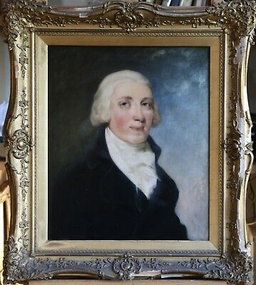 19th CENTURY LARGE ENGLISH OIL ON CANVAS PORTRAIT OF A GENTLEMAN - TO RESTORE
