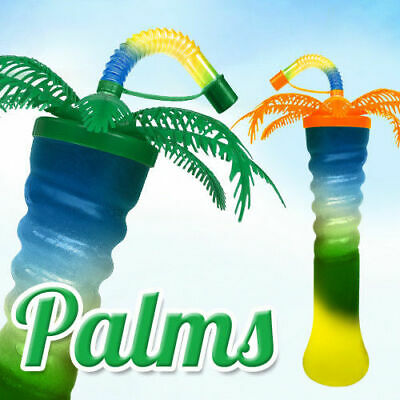PALM TREE Twisted Slush yard cup 17oz (500ml) HT5 x 140 cups with lid and straw