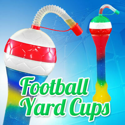 FOOTBALL Slush yard cup 12oz (350ml) HT3 x 133 cups with lid and straw