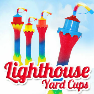LIGHTHOUSE Slush yard cup 12oz (350ml) HT11 x 156 cups with lid and straw