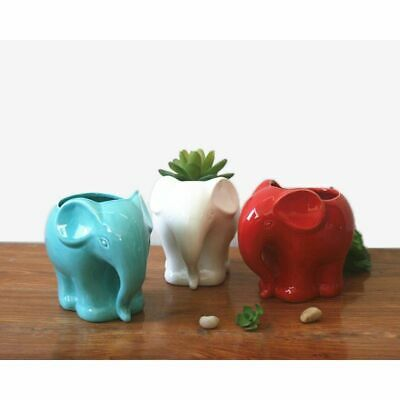 Flower Pot Minimalist Elephant Ceramic Decorative Succulents Planter Home Decor