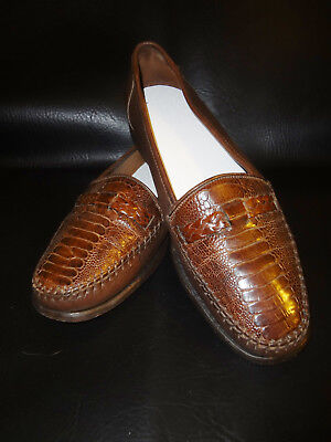 53c2fff5181 Very Nice - Belvedere - Brown Genuine Ostrich Loafer - Made in Italy - Size  8