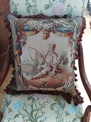 Antique Aubusson Highend Pillow from Paris