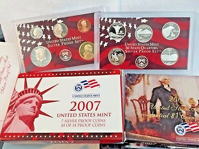 2007 U.S. Mint Silver Proof 14 Coin Set ~ Mint Condition