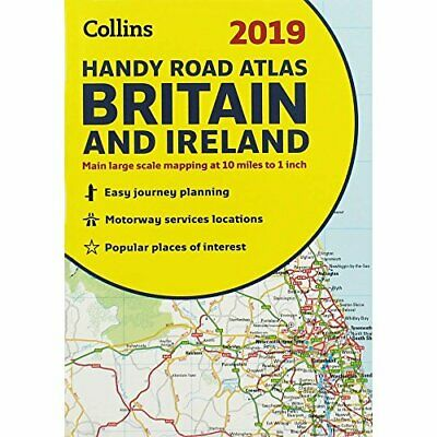 Collins 2019 Handy Road Atlas - Britain and Ireland Book The Cheap Fast Free
