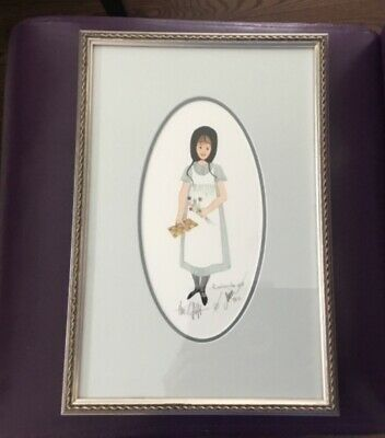 """P. Buckley Moss """"The Gift"""" Limited Edition Print 69/1000 Framed & Matted"""
