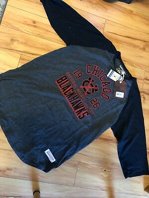 Mens Chicago Blackhawks Mitchell And Ness Shirt Xxl Msro $42