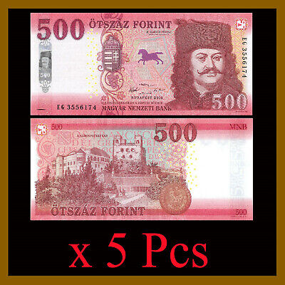 Hungary 500 Forint x 5 Pcs, 2018 (2019) P-New Unc