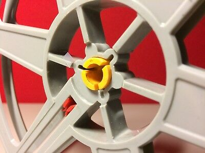 SPOOL ADAPTERS TO FIT  A  SUPER 8mm  REEL ON A DUAL GAUGE 8mm PROJECTOR