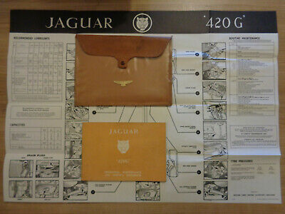 Jaguar 420G Owners Handbook/Manual and Wallet