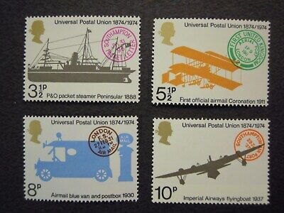 Gb. Commemoratives Centenary Of The Universal Postal Union Sg.954/957 Mnh Set