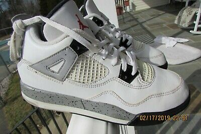 new concept 10c0f 19035 NIKE 308499-104 AIR Jordan Retro IV 4 KIDS OG White Cement Gray Size 3Y  YOUTH