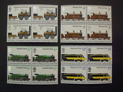 GB. COMMEMORATIVES 150th ANNIVERSARY OF THE PUBLIC RAILWAY BLOCK 4 MNH SG984/987