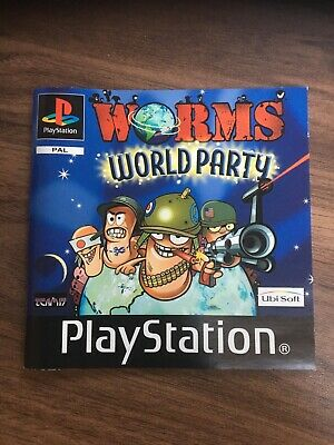 Playstation 1 Instruction Manual Booklet Only Worms World Party