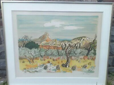lithographie paysage signe yves brayer
