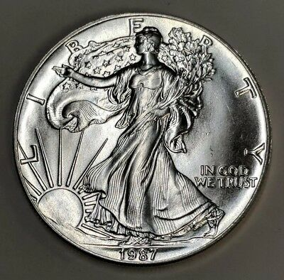 1987 American Eagle Silver Dollar Choice Brilliant Uncirculated