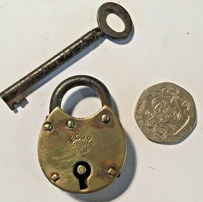 collectable brass padlock
