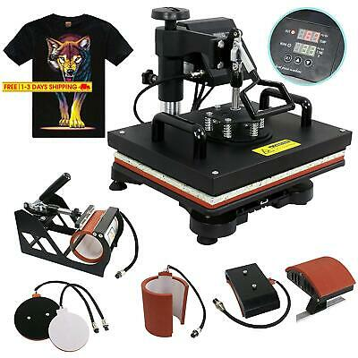 F2C 5 in 1 Professional Digital Transfer Sublimation Swing-away 360-degree Rotat