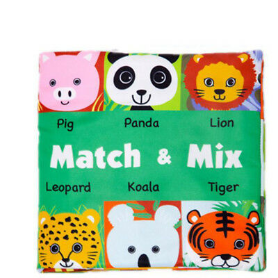 Educational Intelligence Development Infant Soft Animal Cloth Book Baby Gift  6A