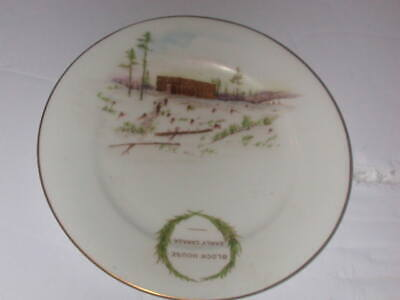 """The Foley China, England, 6"""" Plate, """"Block House Early Canada"""""""