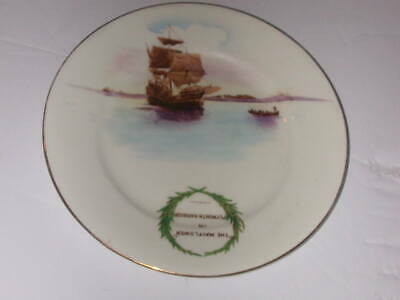 """The Foley China, England, 6"""" Plate, """"The Mayflower in Plymouth Harbour"""""""