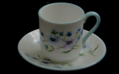 Shelley fine china Blue Rock Miniature Cup & Saucer England Excellent