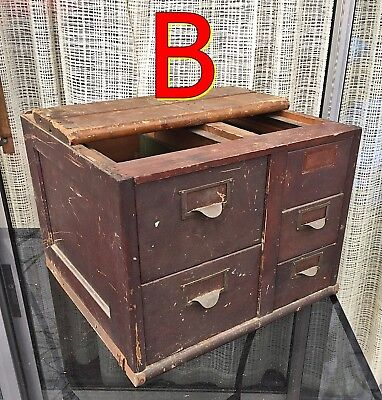 Antique Globe Wernicke FILE CABINET SECTION Very Rough/AS-IS/Needs Repair *B*