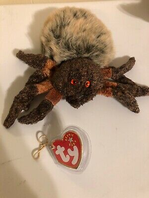 007d936a709 2000 TY BEANIE Baby Hairy The Spider Stuffed Plush Animal Toy ...