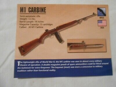 M1 CARBINE GUN Classic Firearms PHOTO CARD from Atlas