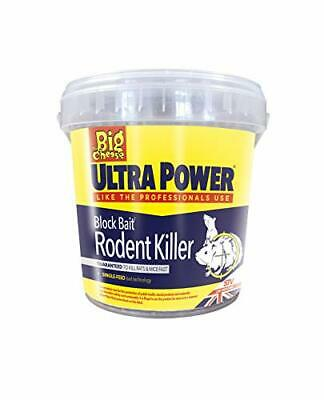 The Big Cheese Ultra Power Block Bait Rodent Killer 15x20g Mouse Bait Rat Poison