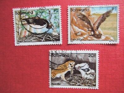 Lot A44) 1982 BOTSWANA used stamps Birds Catalogue Value £32.50