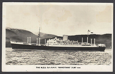 """Pitcairn Island. 1959 Postcard Posted From R.m.v. """"rangitane"""" 3Rd July To Nz."""