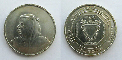 1968 Bahrain 500 Fils-Opening of Isa Town- Silver(.800) 34.5mm KM#8 Uncirculated