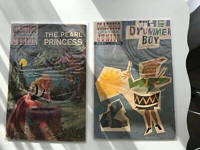 Lot Of 2 Classics Illustrated Jr:  The Pearl Princess & The Drummer Boy