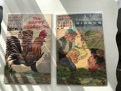 Lot Of 2 Classics Illustrated Jr:  The Happy Hedgehog And The Three Giants