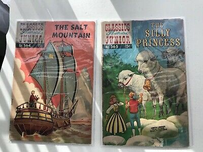 Lot Of 2 Classics Illustrated Jr:  The Salt Mountain & The Silly Princess