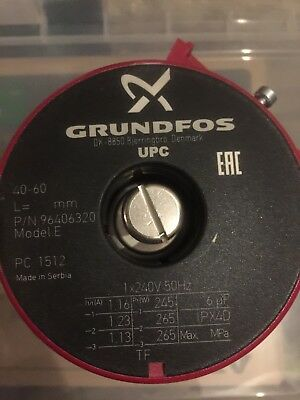Grundfos UPC 40-60 Circulator Replacement Pump Head 240V (96406320)