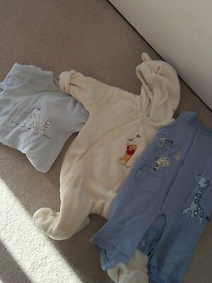 Baby Girl Boy  VGC Coat All In One /Baby Grows Disney Winnie The Pooh John Lewis