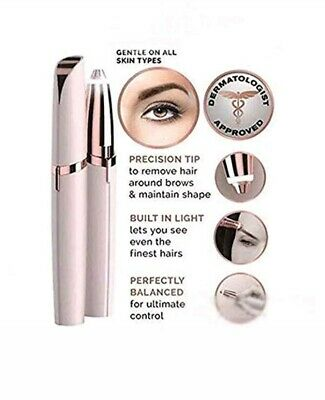 New Flawless Women's Brows Painless Trimmer Electric Eyebrow Hair Removal LED