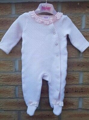 136344c9cc6 TED BAKER GIRLS Sleepsuit Babygrow 0-3 Months Pink - £8.50