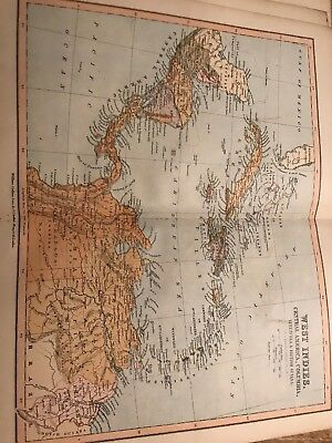1881 Original Antique Map Of West Indies By William Collins And Sons